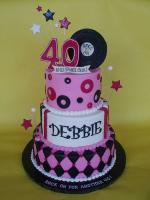 cake decoration for 40th birthday