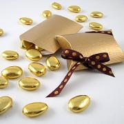 Decadent!! - Jordan Almonds covered with edible gold leaf !