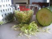 Shred zucchini