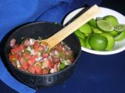Fresh Pico De Gallo Cold Smoked with Apple Wood