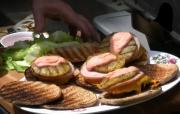 Bacon Cheddar Cheese Beef Aloha Burgers