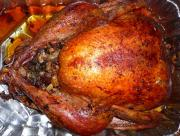 Roast Stuffed Turkey With Cranberry Sauce