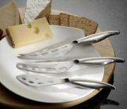 A variety of cheese knives