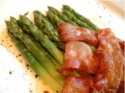 Buttered Asparagus Spears with Pancetta Rashers