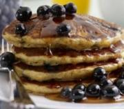 Healthy Wheat And Blueberry Pancakes