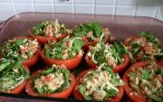 Tomato Stuffed With Vegetable Cottage Cheese Salad