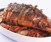 Roasted leg of lamb - a great Easter Dinner Idea