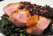Roast Duck Breast With Bing Cherry Sauce