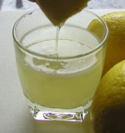 Lemon juice with herbs can make a real refreshing drink