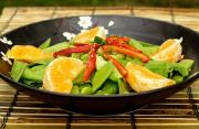A salad to serve fresh soybeans