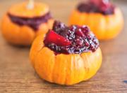 Mini Pumpkin with Cranberry Chutney