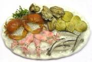 Raw seafood is also very risky source of illnesses