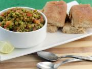 Moong Sprouts Pav Bhaji (Low Calorie) by Tarla Dalal