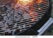 Starting a charcoal barbeque, adding spirit to the Culinary fire