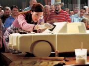 That is Jennifer Garner working on a slab of butter.