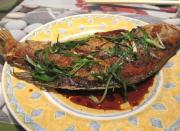 Lalmasala Bharela Bangra ( Red Chutney Stuffed Mackerel )