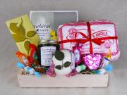 ideas for making valentine food basket