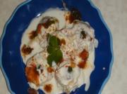 Dahi Vada (Wada) - Lentil Balls(Dumplings) with Flavored Yogurt