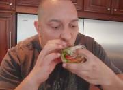Raw Portobello Mushroom Canape