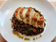 Healthy Chicken with Tarragon Puy Lentils
