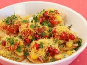 Corn Sev Puris by Tarla Dalal