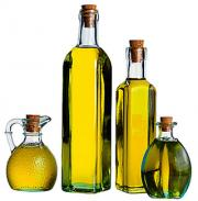 Olive oil bottles come in a variety of shapes and sizes.