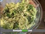 Spiralized Zucchini With Broccoli And Tahini Sauce