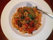 Spaghettini with Sun Dried Tomatoes