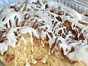 Cinnamon Roll Coffee Cake with Vanilla Glaze