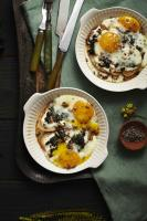 Baked Eggs with Basil-Mint Pesto