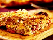 Persimon and Raspberry Flapjacks