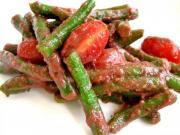 Garden Beans In Tomato Tarragon Vinaigrette