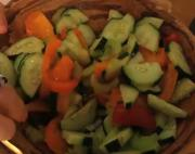 Celery Cucumber Tomato Salad