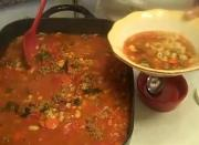 Pasta e Fagioli from Page 43 of Rosalie Serving Italian Cookbook