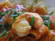 Scampi Provencale With White Wine