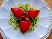 Piquillo Peppers Stuffed with Orange and Cumin Scented Goat Cheese