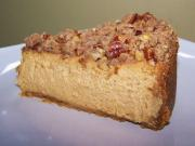 Pumpkin Cheesecake with Pecan Crumble