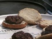 Homemade Hamburgers, Grilled Vegetables, and Mahogany Clams