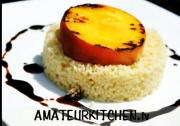 Grilled Peaches with Couscous and Balsamic Reduction