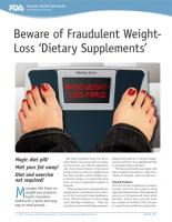 Weight loss supplements-potentisl health fraud