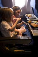 Children enjoys their food on the go