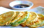 Egg Fried Zucchini Crisps