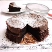 Chocolate cake baking