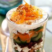 Creamy vegetable salad - wonderful Thanksgiving menu