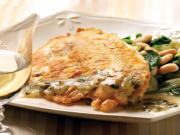 Tilapia French with Lemon & Caper Sauce