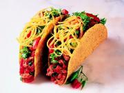 Tacos can have a filling of beef, chicken or cheese