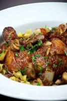 Chicken Cacciatore Over Noodles
