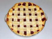 Lattice Top Cranberry Pie