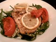 Lemon Filet wIith Spinach and Orzo Salad