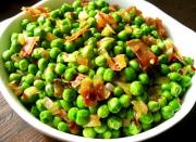 Peas with Leeks and Pancetta